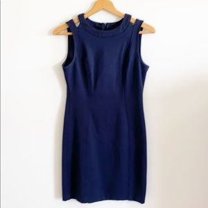 Katherine Barclay Navy Blue Sleeveless Dress